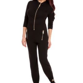 Glamy comfort top and long pant black
