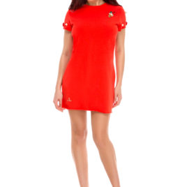 Glamy comfort short dress orange