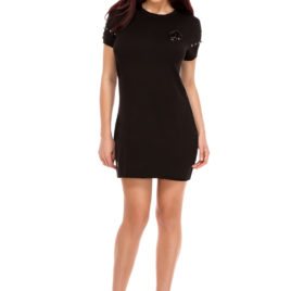 Glamy comfort short dress black