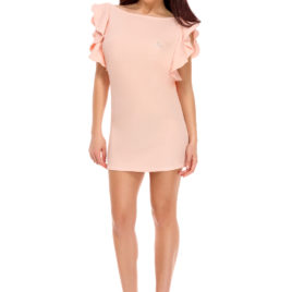 Glamy fly short dress rose