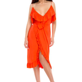 Glamy comfort fly short dress orange