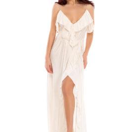 Glamy comfort fly long dress white
