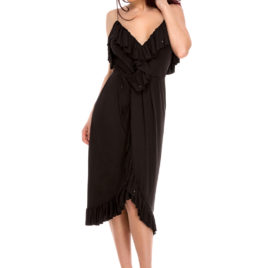 Glamy comfort fly short dress black