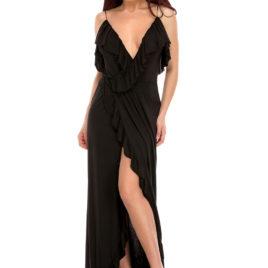 Glamy comfort fly long dress black