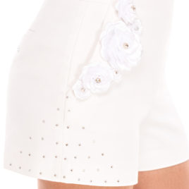 Glamy short pants white