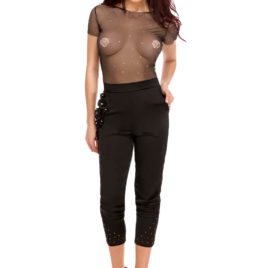 Glamy long black pant