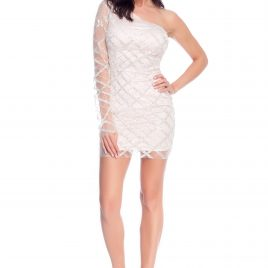 Glamy short glitter shoulder dress