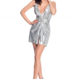 Glamy short silver dress