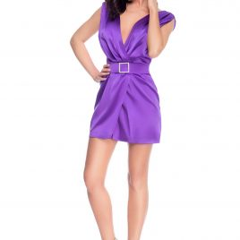 Glamy short ultra-violet dress