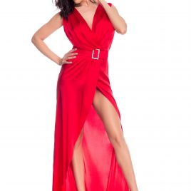 Glamy long red dress