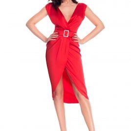 Glamy short red dress