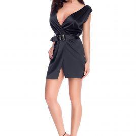 Glamy short black dress