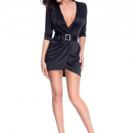 Glamy short black dress